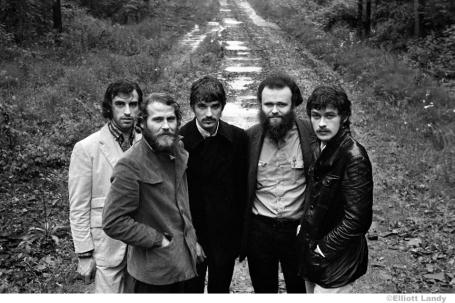 290 The Band, The Band album cover photo, John Joy Road, Zena, Woodstock, NY, 1969. Robbie Robertson, Richard Manuel, Rick Danko, Garth Hudson, Levon Helm.