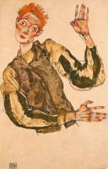 2-self-portrait-with-striped-armlets-egon-schiele